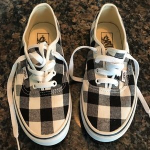 Vans Gingham Lace Up Sneakers